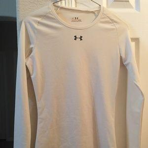 Under Amour allseasongear white long sleeve shirt